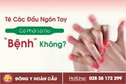 Các đầu ngón tay bị tê có phải là do bệnh không? | Phòng khám đa khoa Hoàn Cầu