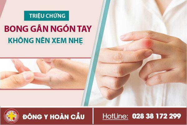 Những điều cần biết về bong gân ngón tay   Phòng khám đa khoa Hoàn Cầu
