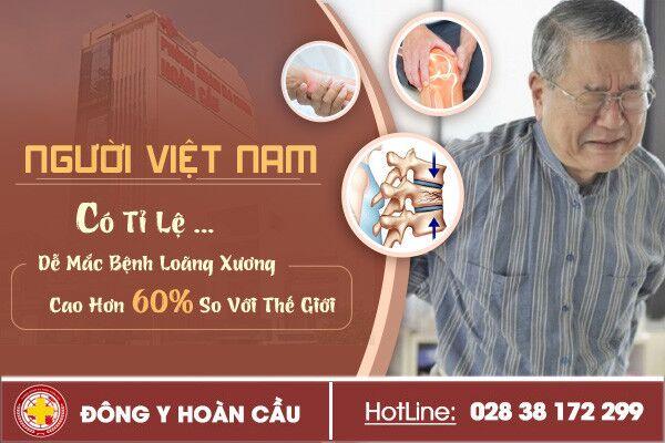 Người Việt Nam có tỉ lệ dễ mắc bệnh loãng xương cao hơn 60% so với thế giới | Phòng khám đa khoa Hoàn Cầu