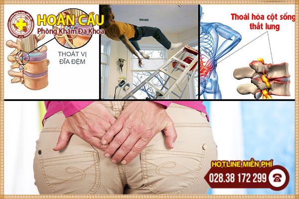 Nguyên nhân đau nhức xương cùng cụt   Phòng khám đa khoa Hoàn Cầu