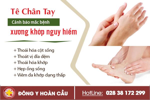 Tê chân tay cảnh báo mắc bệnh xương khớp nguy hiểm | Phòng khám đa khoa Hoàn Cầu